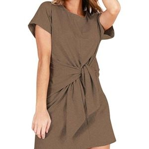 Dresses & Skirts - tie-front t-shirt dress